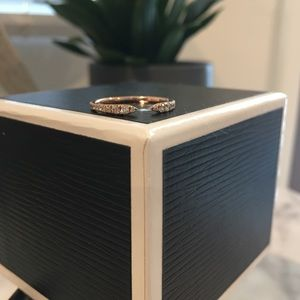Bloomingdales rose gold & diamond open faced band